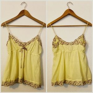 Anthropologie Eloise Babydoll Embroidered Camisole